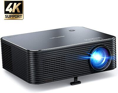 Projector  APEMAN Native 1080P HD Home Video Projector  Support 4K 6000 lumens