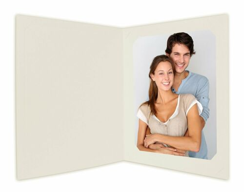 Cardboard Photo Folder for 8x10/6x8 (Pack of 25) Cut corners GS010 Ivory Color