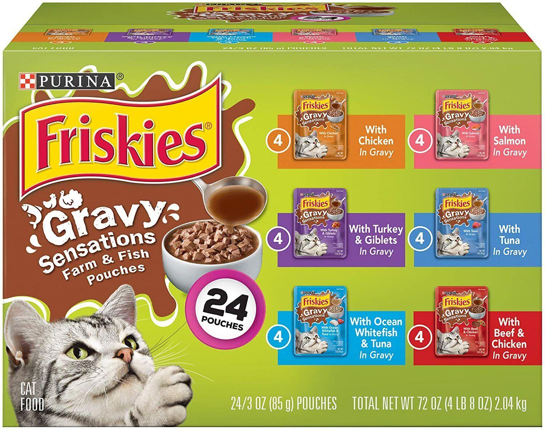 Purina Friskies Gravy Wet Cat Food Variety ...