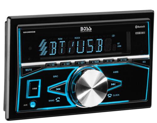 BOSS 820BRGB Double 2 DIN Bluetooth In-Dash Digital Media Car Stereo Receiver