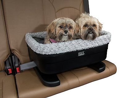 Pet Gear Multi 2 Dog Pet Elevated Raised Booster Car Seat Carrier Blk Fog Large