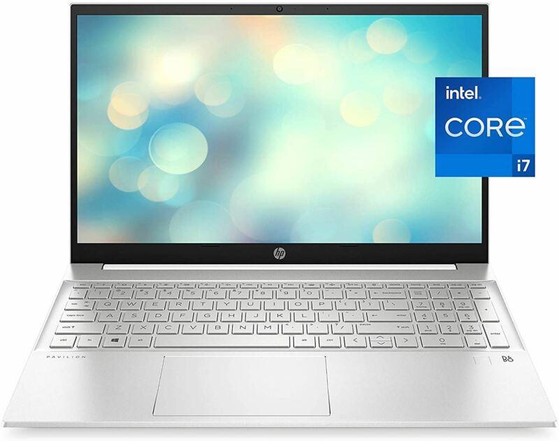HP Pavilion 15 Laptop, 11th Gen Intel Core i7-1165G7 Processor, 16 GB RAM, 512 G