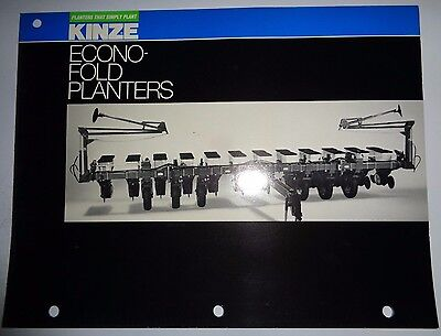 Kinze Econo-fold Planter Sales Brochure Literature 8-12-row Advertising