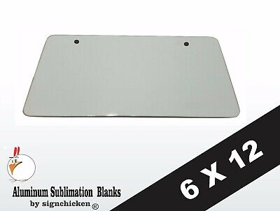 10 Pieces Aluminum License Plate Sublimation Blanks 6x 12 2 Mounting Holes