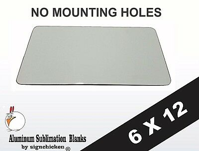 5 Pieces Aluminum License Plate Sublimation Blanks 6x 12  No Mounting Holes
