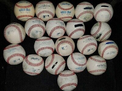 (20) Official MLB Major League used baseballs 2 are new, all leather