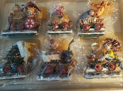Danbury Mint Winnie The Pooh Christmas Train Set Disney Excellent