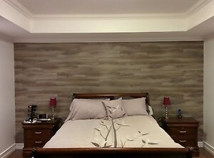 Sleigh Queen bed,mattress and box spring