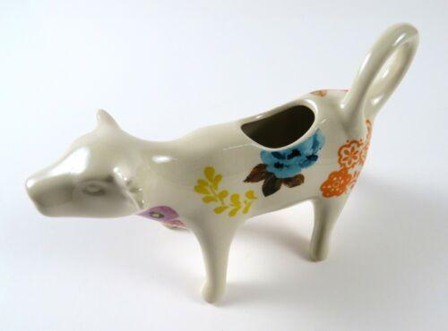 Ceramic Pioneer Woman Floral Flower Cow Figure Creamer