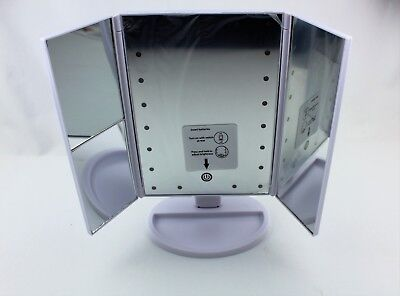 Tri-fold 2x/3x Magnified Make-up/Cosmetic Vanity LED Light-up Mirror Beauty - Magnified Vanity Mirror