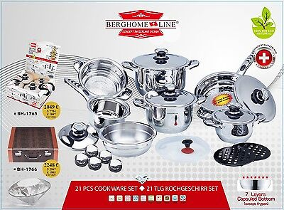 Berghome Line 21 Pcs Cookware Set