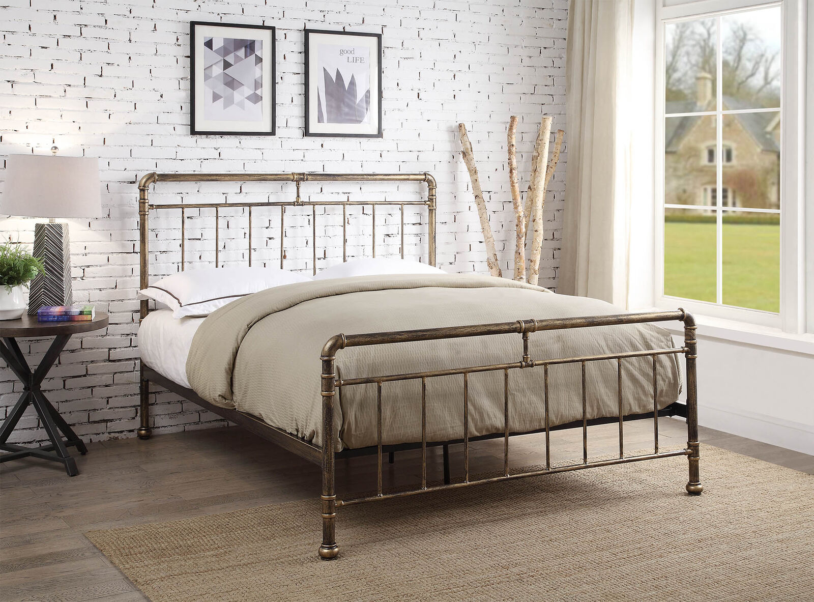 Detroit Metal Industrial Bed Frame Scaffold Pipe Copper Brass Various Sizes Ebay