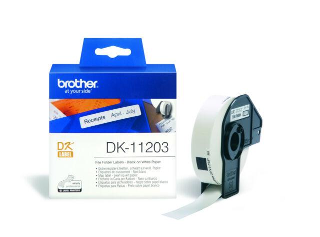 Brother Ordner/Register-Etiketten DK-11203 Mehrzweck-Etiketten 300 Stück