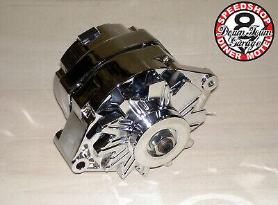 Lichtmaschine  Chrom  Chevrolet  GM Style   1 Wire 100 Amp