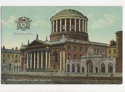Four Courts Dublin Ireland Vintage Postcard 349a