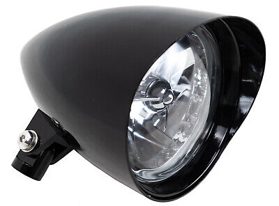 Bullet Headlamp - Black Bullet  Visor Tri Bar 5.75