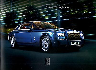 Rolls Royce Phantom Coupe Softback Sales Brochure 21pgs