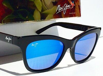 NEW* Maui Jim SWEET LEILANI Black w POLARIZED Blue Women's Sunglass B722-02