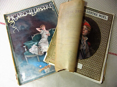 set of 2 Magazines FIGARO DEMONSTRATES : June 1892 and Christmas 1910 whose 2è