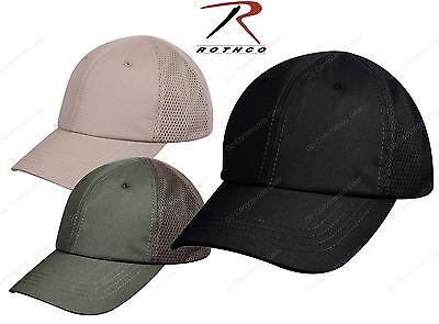 Mens Baseball Style Mesh Back Tactical Cap - Rothco Adjustable Moisture Wick Hat