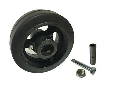 Caster Wheels Set 4 5 6 8 Rubber On Cast Iron Wheel Set With Bearing Kit