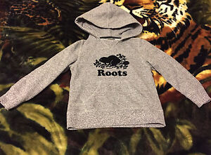Roots salt and pepper hoodie for boys/girl 5T