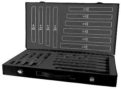 Terrax 10pcs. Morse Taper Drill Bits Set 14.0 - 30.0mm Hss Made In Germany