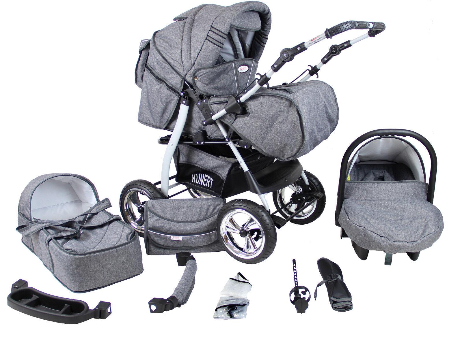 Kinderwagen Kombikinderwagen, Babyschale 0-13 KG, NEU VIP 3in1 sofort lieferbar