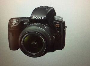 Sony A35 camera with 18-55mm lens