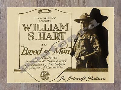 Historic Breed Of Men 1919 Western Movie Postcard 2