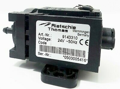 Rietschle Thomas Small 3 Vacuum Pump Model 9143310 24 Volts Germany