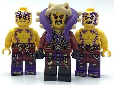 LEGO LOT OF 3 NINJAGO MINIFIGURES CHEN ANACONDA CULTIST FIGURES KRAIT FIGS
