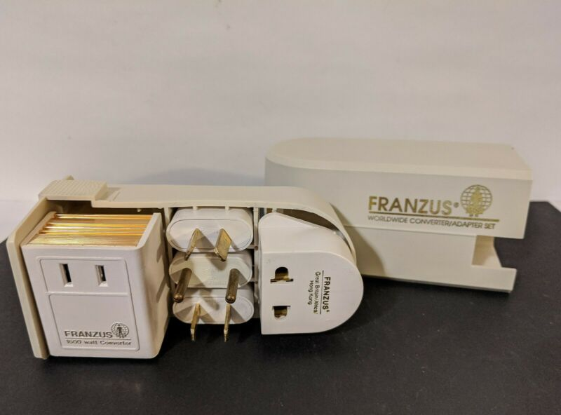 Vintage FRANZUS , travel Worldwide Converter Adapter set