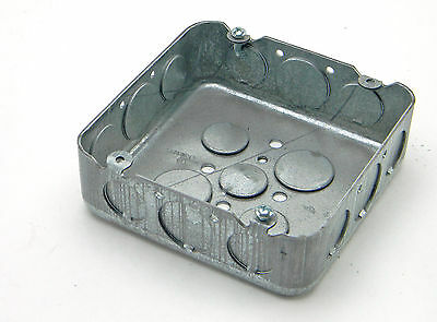 New Raco Square Electrical Junction Box 4-34 X 4-34 X 1-58 Deep