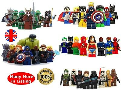 Superheroes Minifigures Custom + Lego Superhero Mini Figures Various MiniFigs