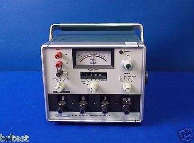 Fluke 893a Acdc Differential Voltmeter 50hz To 10khz 0 To 1100 V Ac Dc