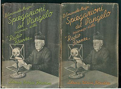 MAGRI EMANUELE SPIEGAZIONI DEL VANGELO LIBRERIA FIORENTINA 1935 VOL. 1-3 di 4