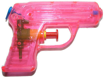 DRENS WATER PISTOL GUN - 11CM x 8CM x 2CM - PINK - NEW (Pink Water Gun)