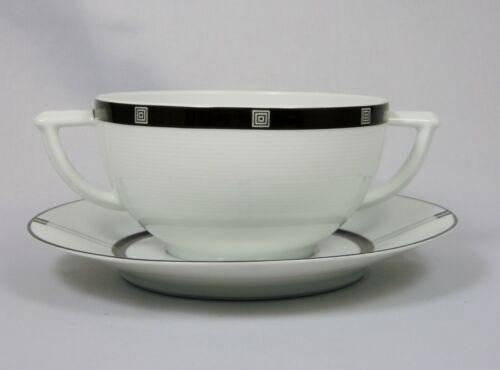 BERNARDAUD WIENER Cream Soup Cup (Bowl) and Saucer