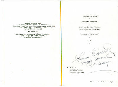 HOTEL TAMANACO INTERCONTINENTAL MENU THOMAS HARROLD 1957 CARACAS VENEZUELA