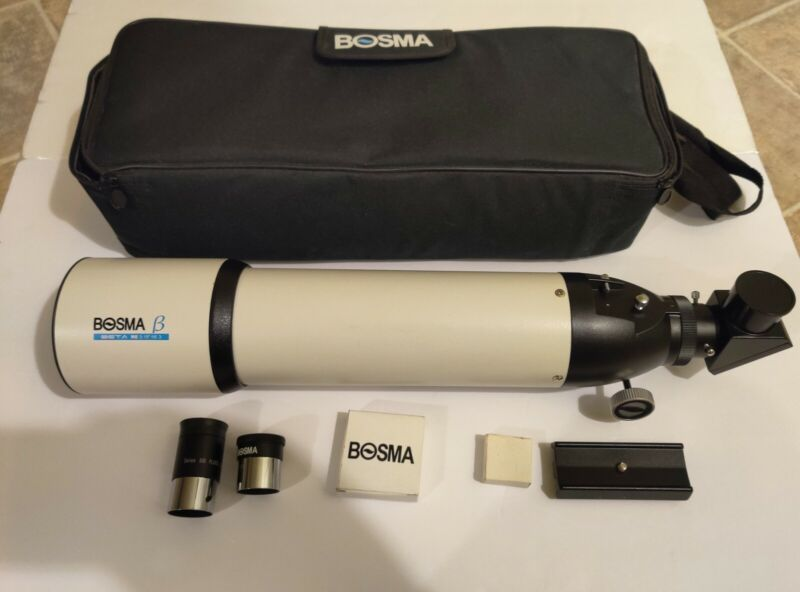"Bosma beta 3.15"" f/6.3 80mm refractor telescope spotting scope"