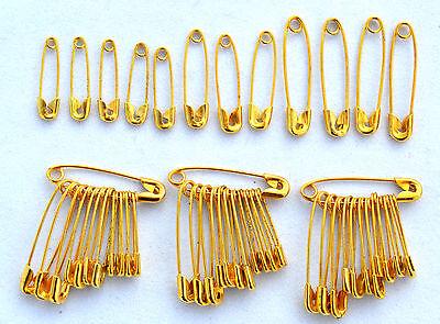 48 Sicherheitsnadeln Messing  / Gold gemischt klein