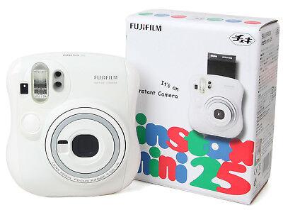 Fujifilm Instax MINI 25 Instant Film Polaroid Camera Picture Photo (White) NEW