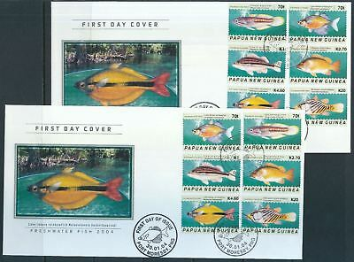 PAPUA NEW GUINEA PNG 2004 FISH FDC Cover x 2(Pap19)