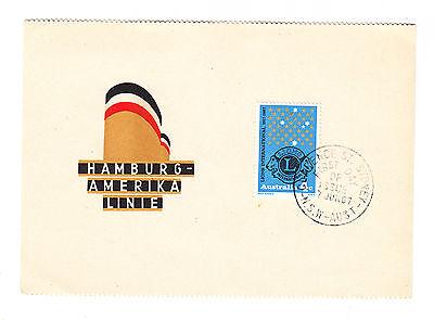 Australien FDC Ersttagsbrief Karte 1967 Hamburg- Amerika- Linie  Mi.Nr.387