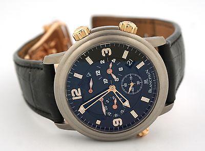 Blancpain Leman Reveil GMT Titanium Alarm 18k Rose Gold 2041-12a30-63b