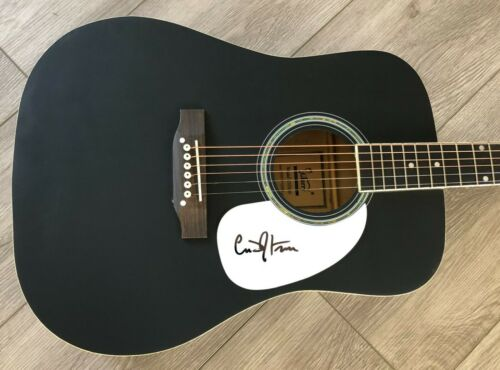 """CODY JOHNSON SIGNED AUTOGRAPH BLACK 41"""" FULL SIZE ACOUSTIC GUITAR w/EXACT PROOF"""