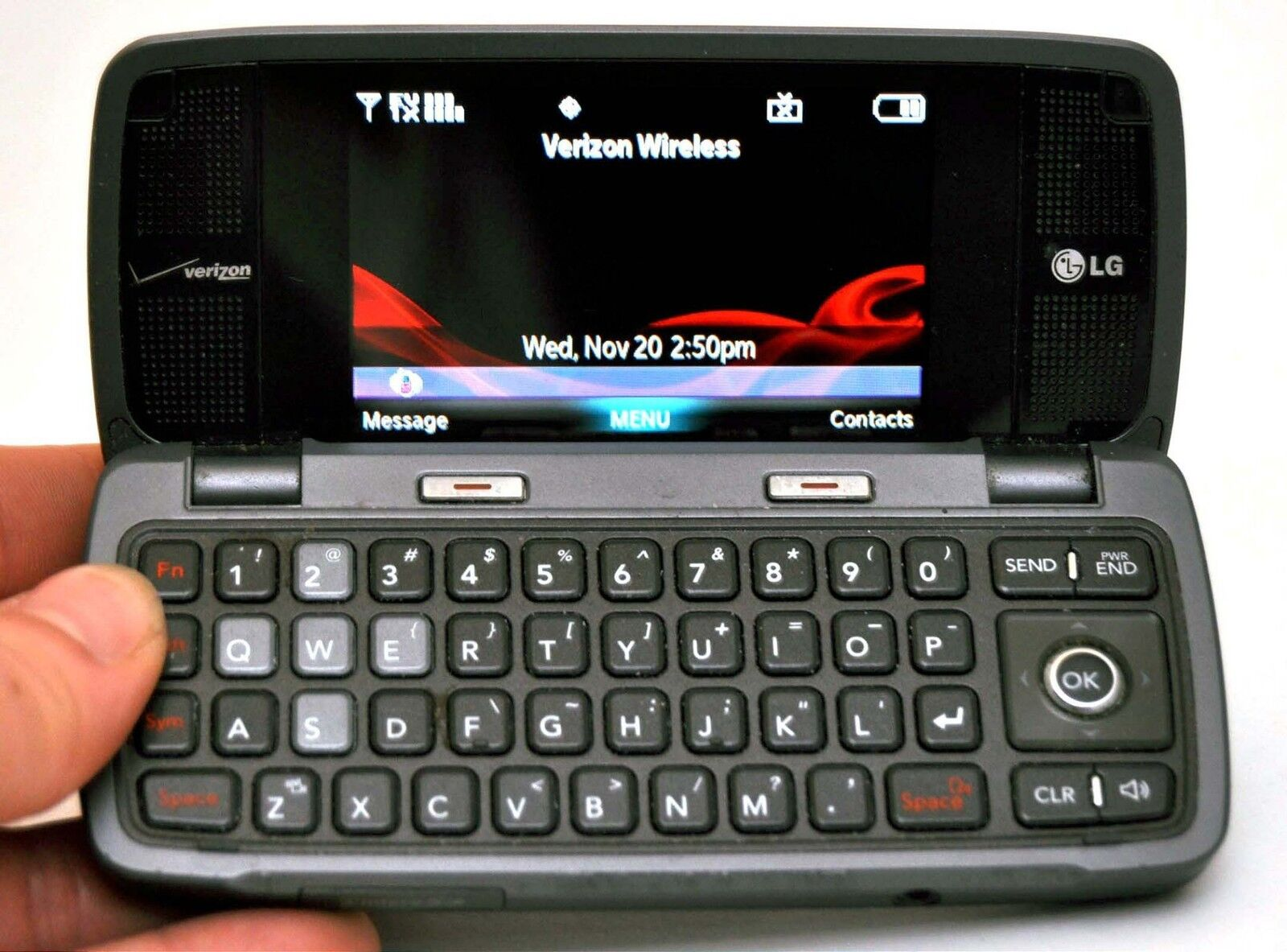 lg voyager vx10000s verizon cell phone titanium flip qwerty keyboard rh ebay com Verizon LG Phones Verizon Env