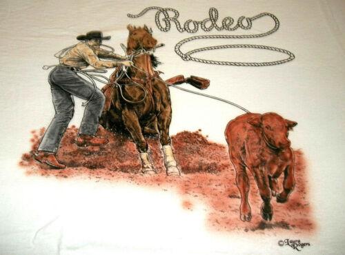 "Rodeo Rider T-shirt  "" White "" 3XL ( 54 ~ 56 )"