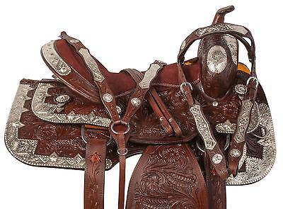 USED 16 SHOW SADDLE WESTERN PLEASURE TRAIL LEATHER HORSE TACK SET